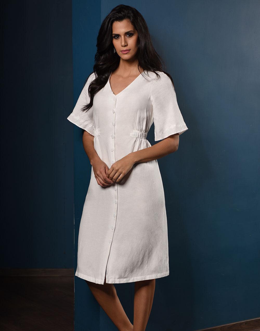 Summer Lady Linen Dress
