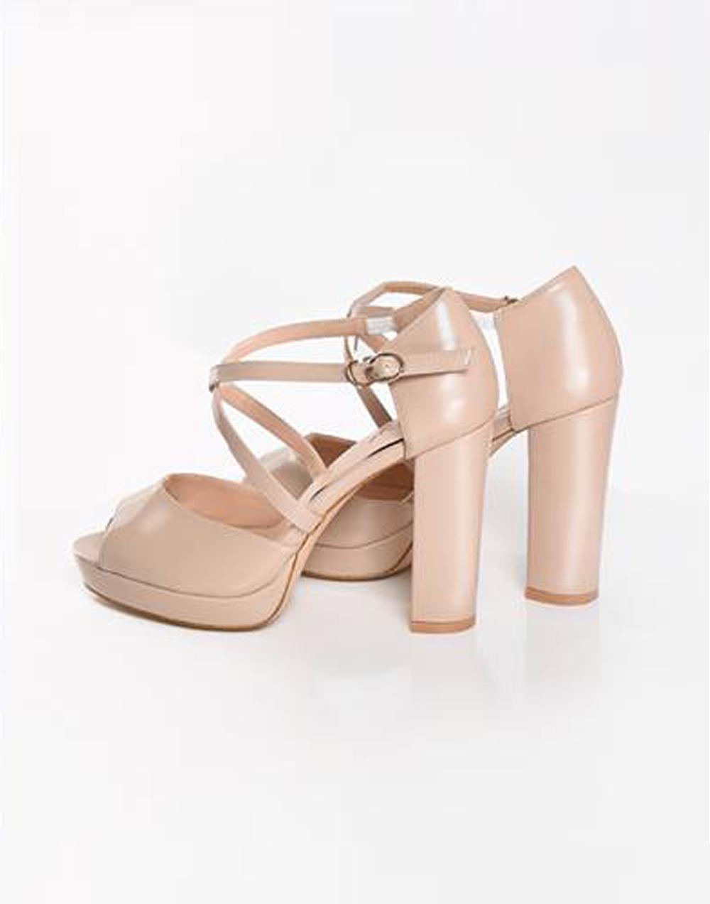""" Ariel "" Peep-toe platform Heels With Cross Straps"