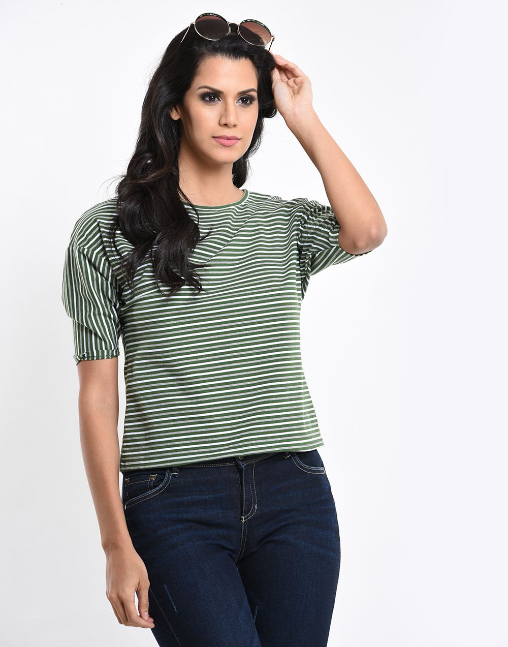 Tight Sleeve Y/D Top