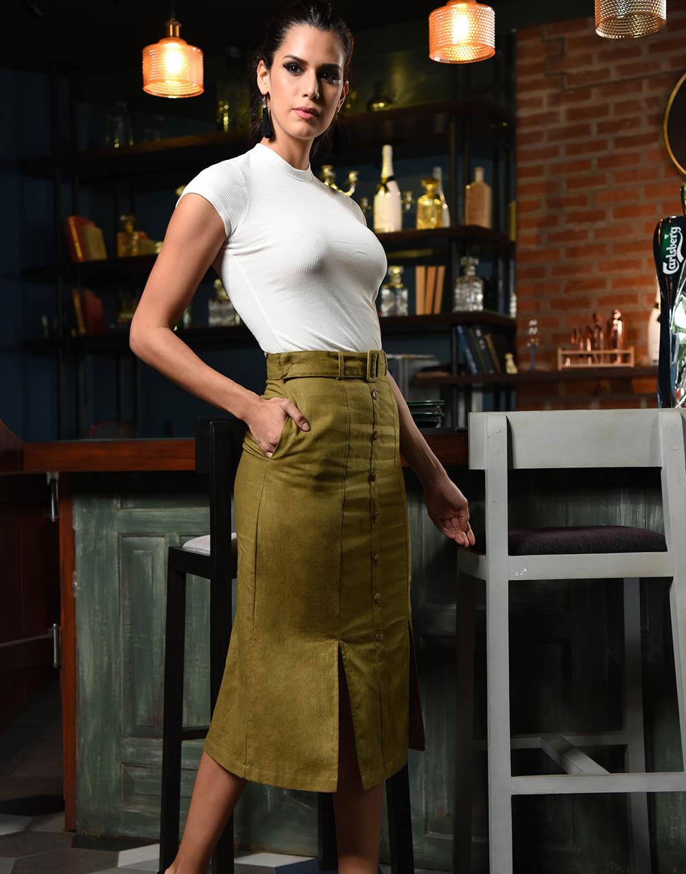 Summer Memories Linen Skirt
