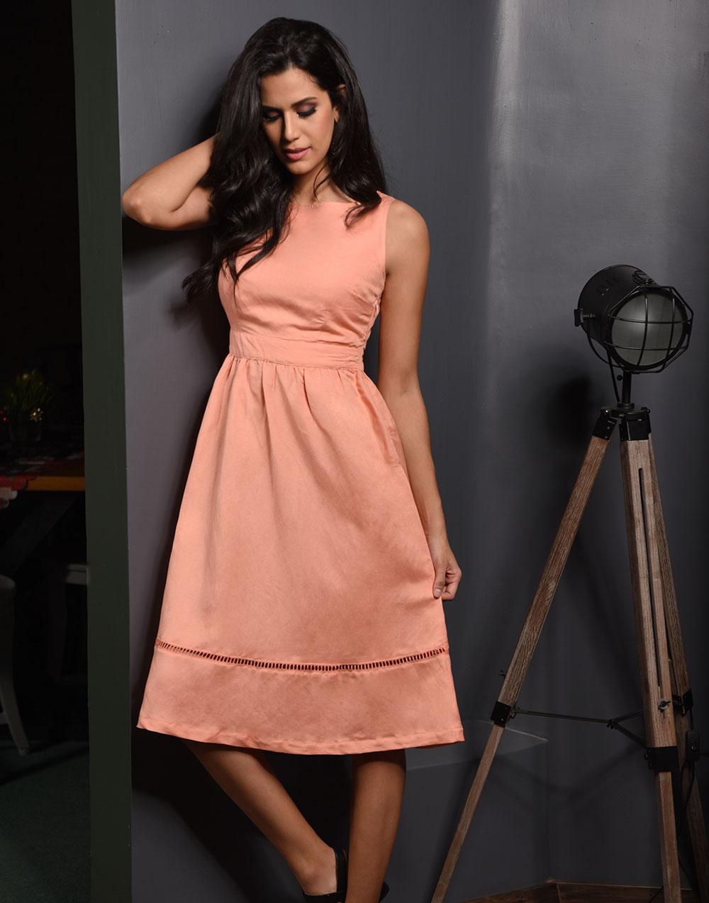 Summer In Linen Midi Dress