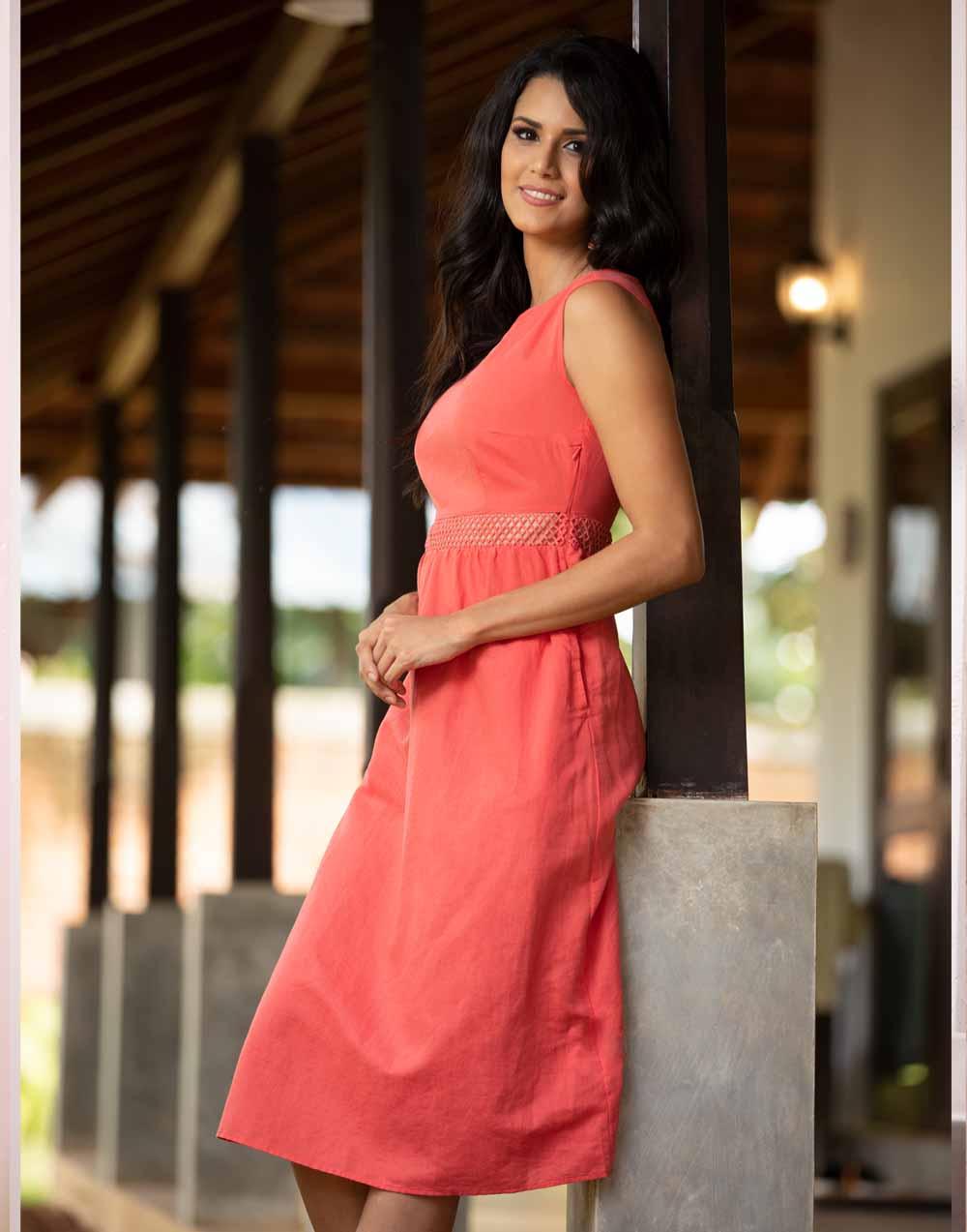 Always In Love Linen Dress