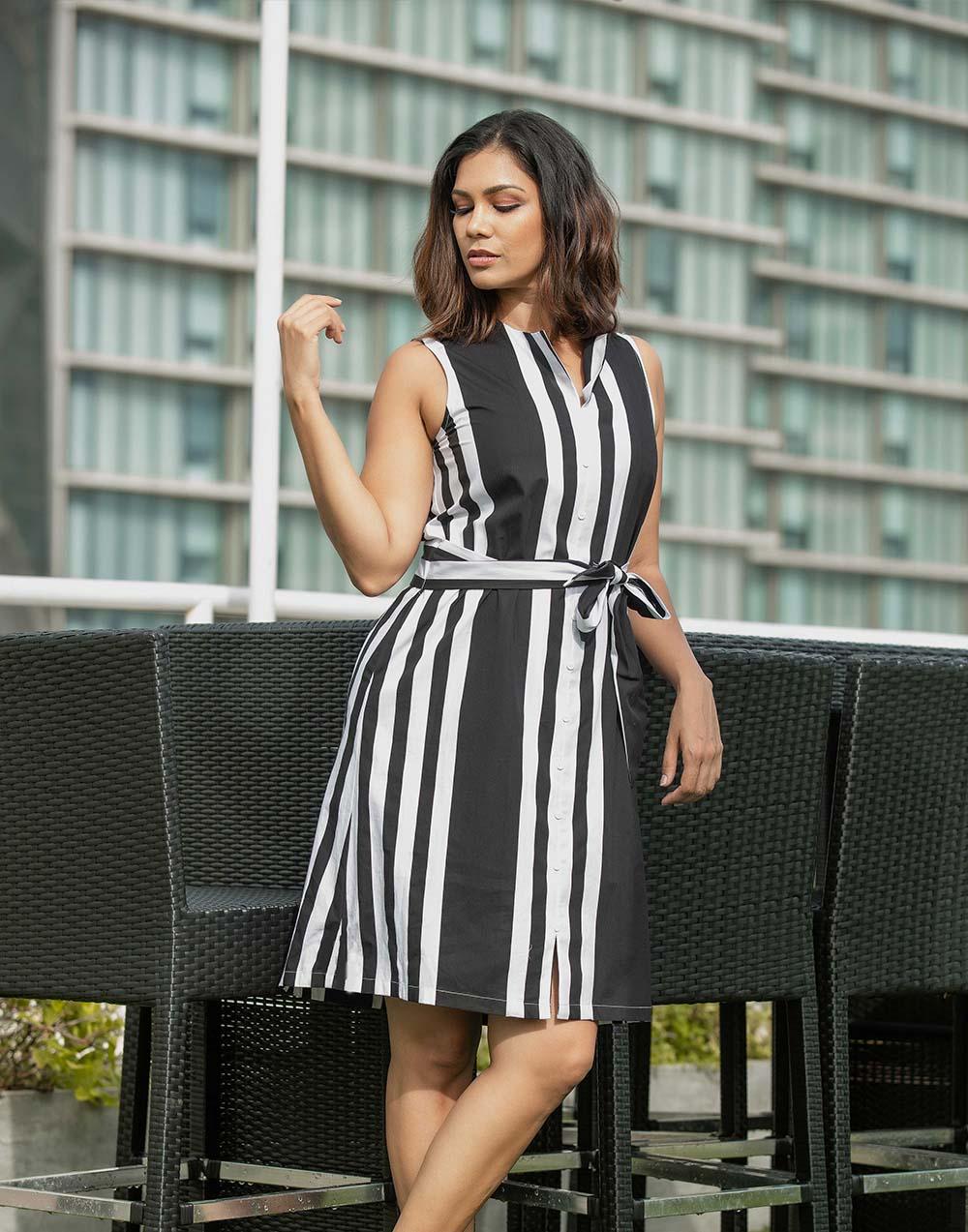 Free to be stripe ww dress
