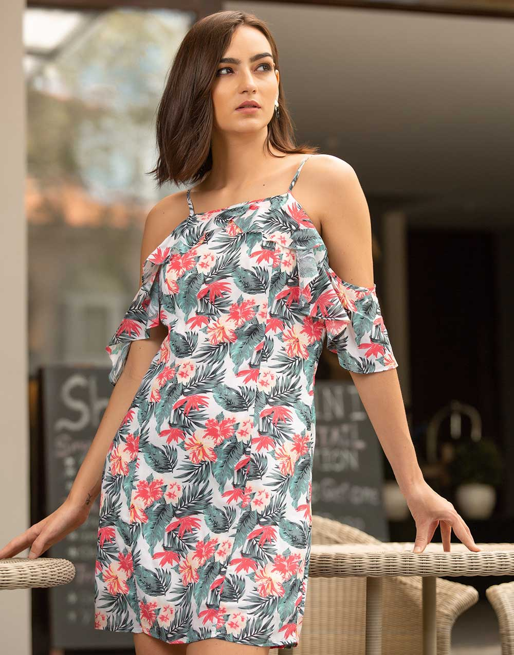 Floral Printed Strappy Dress