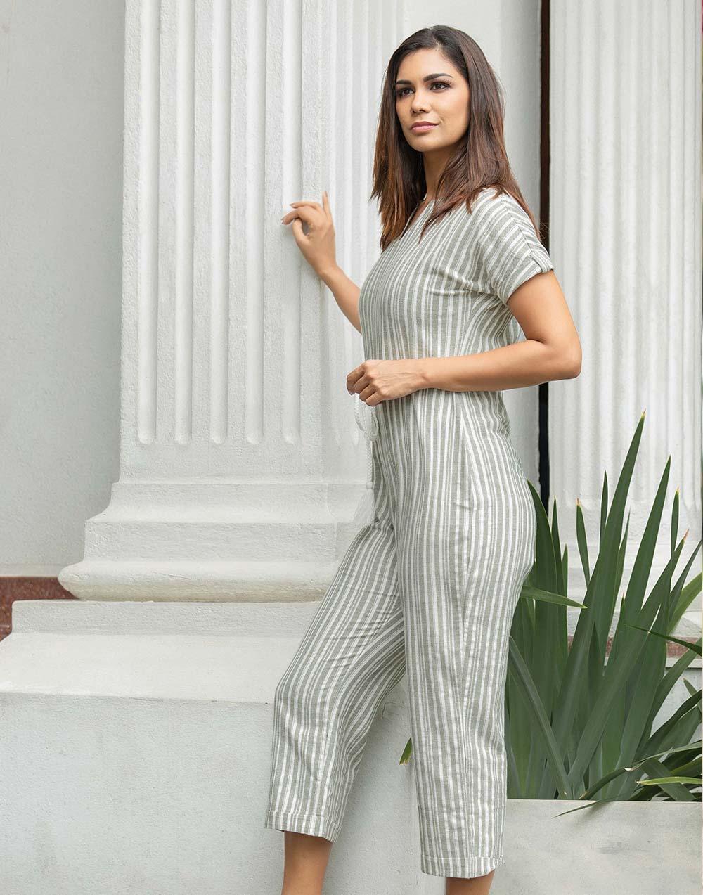 The Natural Blend Linen Jumpsuit