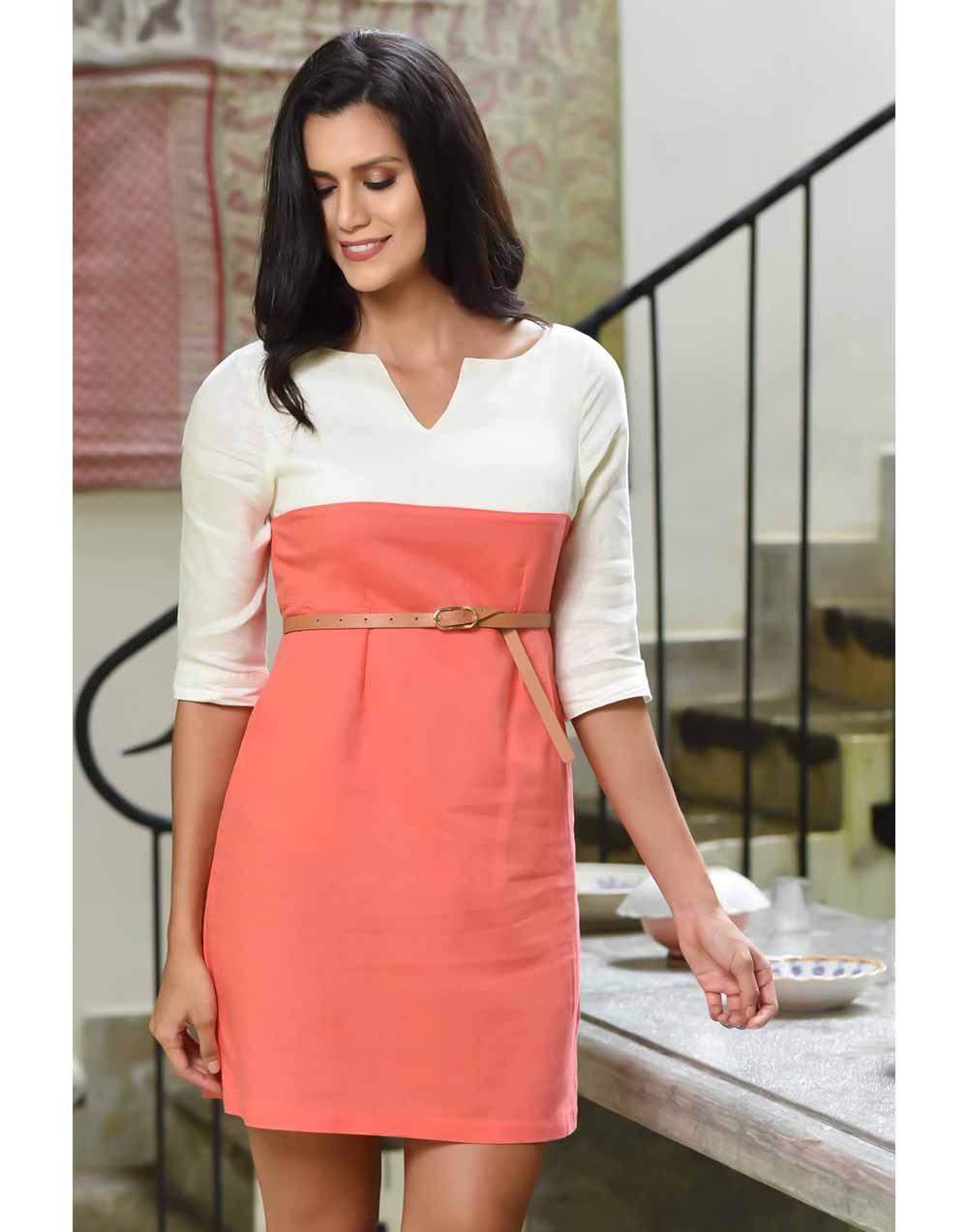Summer Beauty Linen Dress