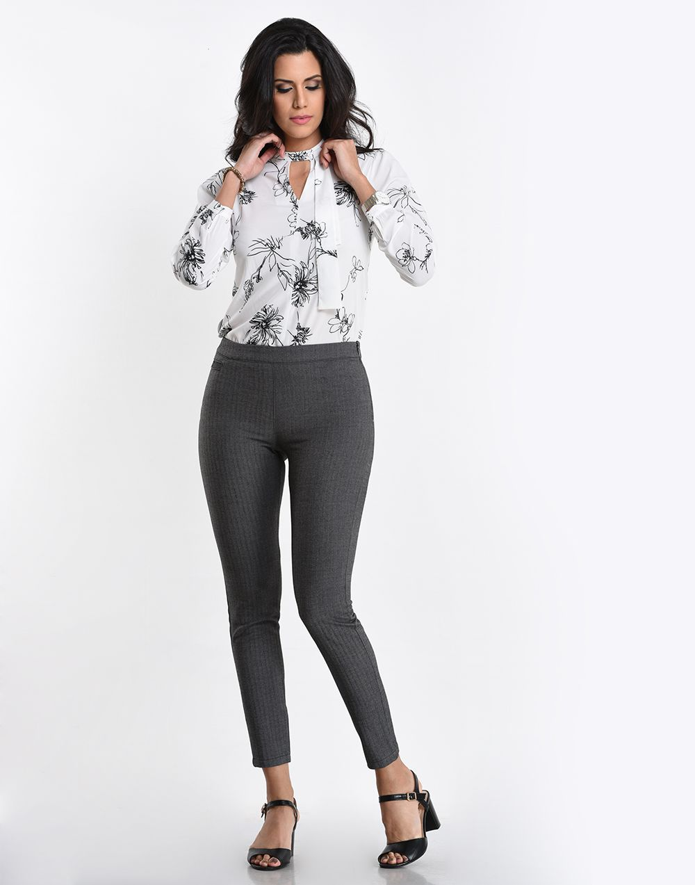 Checkered Stretchable Pant