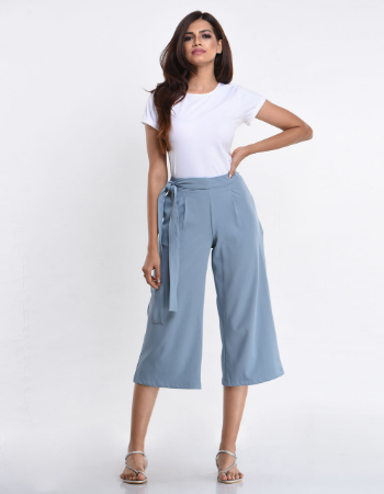 Side Tie Crop Pant