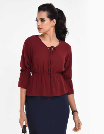 Sheering Casual Solid Top