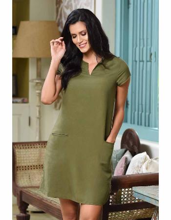 V Neck Linen Dress!