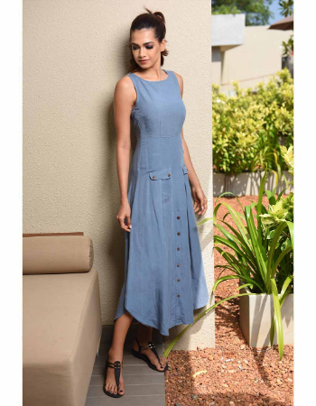 Double Pocket Linen Maxi Dress!