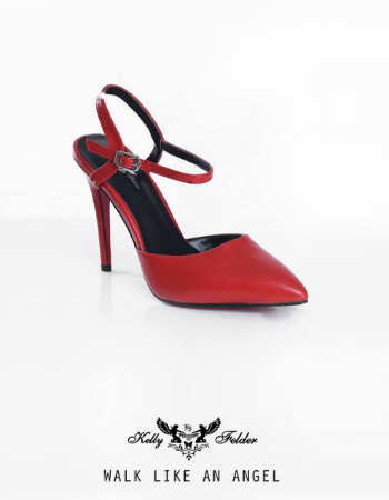 """Angelina"" Pointed-Toe Stilleto With Ankle Strap"