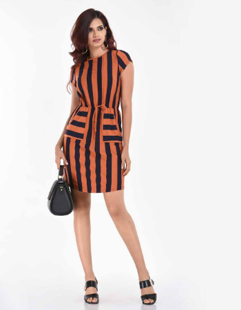 Stripe Boxy Casual WW Dress !!