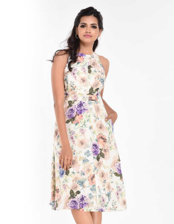 Butterfly Colors Midi Dress