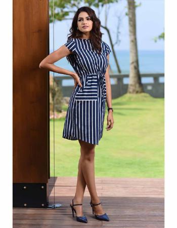 Stripe Boxy Casual WW Dress