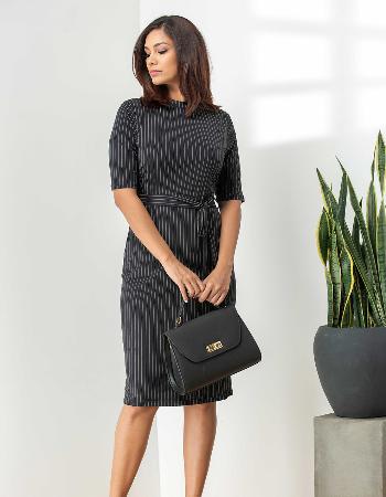 Stripe Neck WW Dress