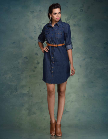 Long Sleeve Denim Shirt Dress!!!