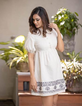 Tropical Paradise Linen Dress