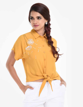 Flower Embroidery Top