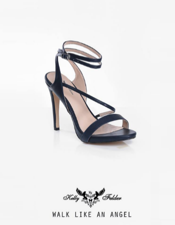 """ Gloria"" Pointed Heel Sandals With Ankle Straps"