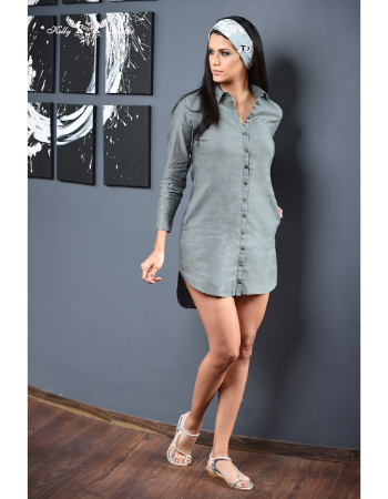 """Onekey"" Shirt Dress"