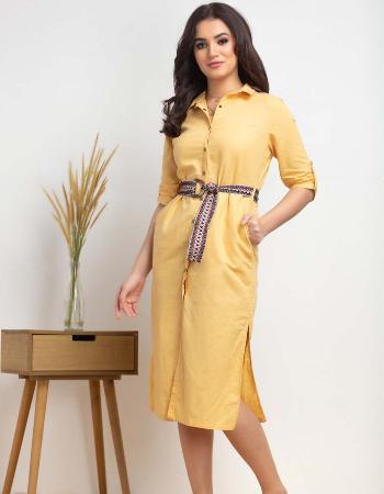 Midi linen shirt dress By Kelly Felder at Kapruka Online forexternalFeedProduct