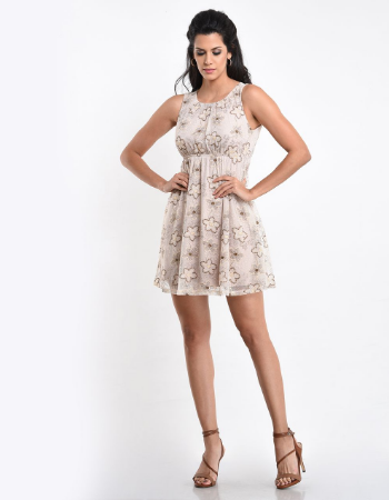 Empire Line Lace Skater Dress