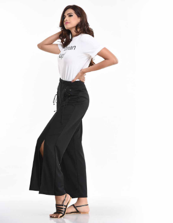 Eyelet Cross Lace Pant
