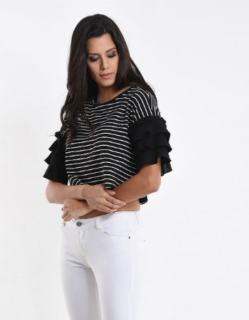 Stripes On Ruffles