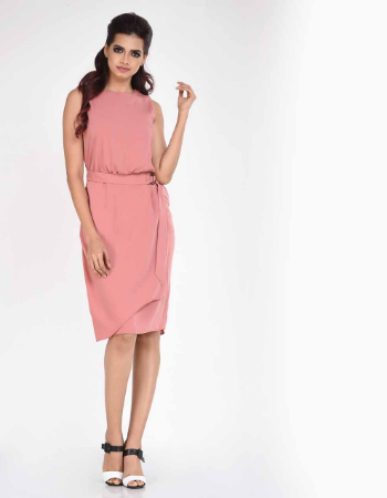Sleeveless Wrap WW Dress