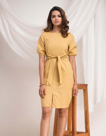 Till Down Linen Dress