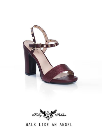 """"""" Dina"""" Block Heel Sandals With Studded Straps"""