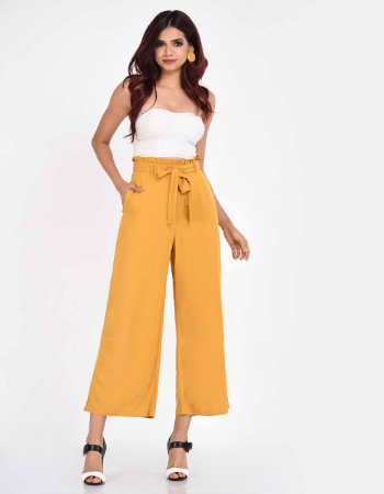Frilled High Waisted Pant