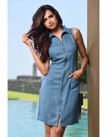 Linen Dress Expose Zipper