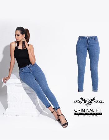 Low Waist Side Contrast Detail  Jean