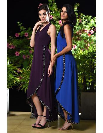 Royal Elegance Wrap Maxi Dress