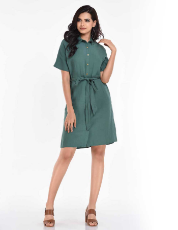 Snap Detail Dress