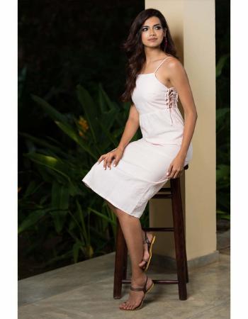 Side Seam Code Linen Dress