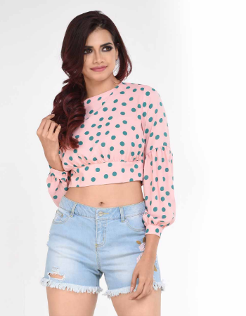 Polka Crop Top