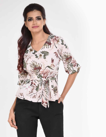 Floral Work Casual Top