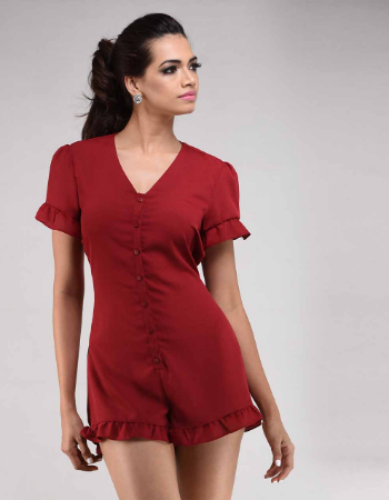 Frilly Tie Up Romper