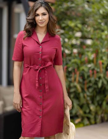 Love Me Basic Linen Dress