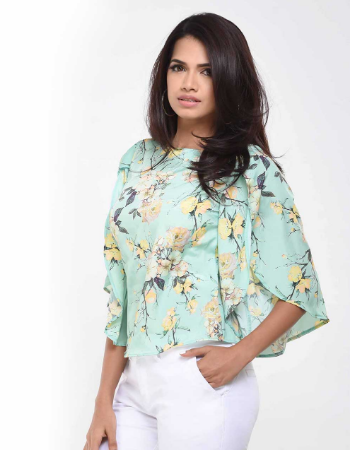 Floral Flayed Sleeve