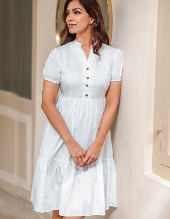 Layered Linen Dress
