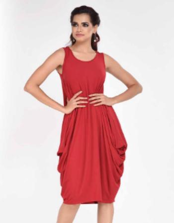 Sleeveless Cowl Midi Dress