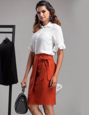 Wrap like Queen Work Wear Skirt