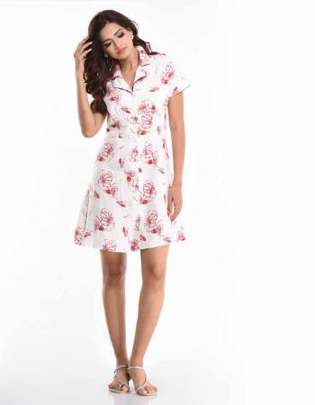 Linen Printed Dress