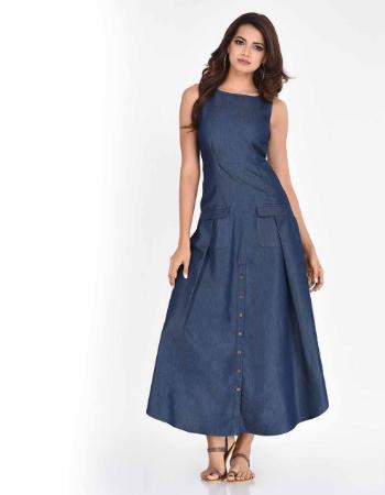 Sleeveless Chambray Maxi Dress
