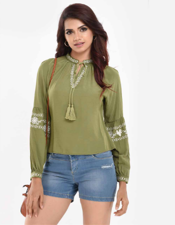 Embroidery Fashion Top