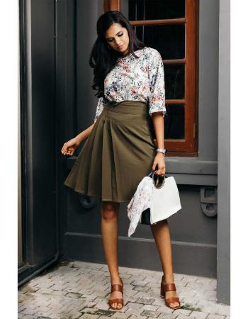 Shinding Paper Waist WW Skirt